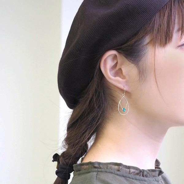 ベレー帽とターコイズ