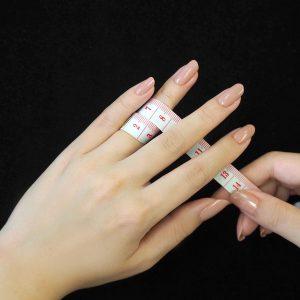 指の太いところの長さを測る