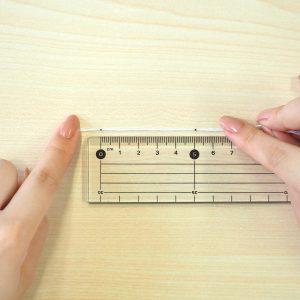 ペンでつけた印を測る