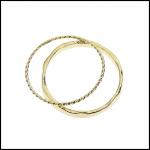 【ピックアップ商品3】2種類のリングがセットになったゴールド2連リング